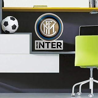 FC Inter Milan Autocollant mural officiel Doré/bleu Taille unique
