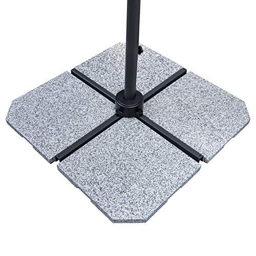 Doppler Granitplatte Light für Sonnenschirm 25 kg, ca. 50x50x4 cm