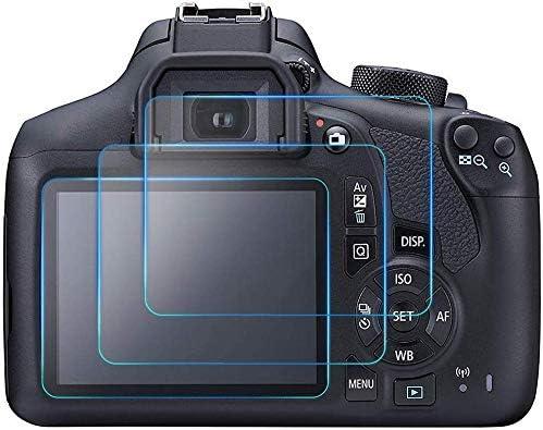 2 Pcs 9H protector de pantalla LCD de vidrio templado para Cámara Canon EOS 1300D Rebel T6