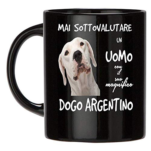 12Print Tazza Dogo Argentino: Mai Sottovalutare Un Uomo con Un Cane Dogo Argentino