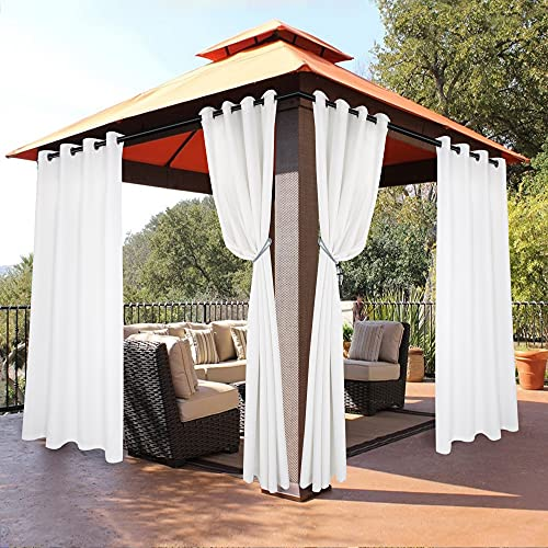 BONZER Waterproof Indoor/Outdoor Curtains for Patio - Thermal Insulated, Sun Blocking Grommet...