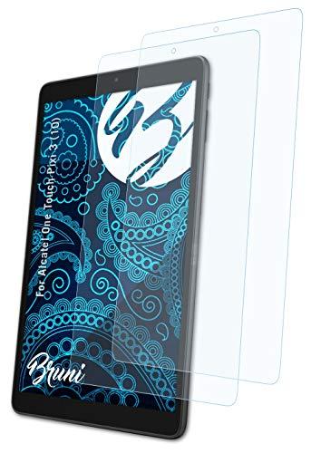Bruni Schutzfolie kompatibel mit Alcatel One Touch Pixi 3 (10) Folie, glasklare Bildschirmschutzfolie (2X)