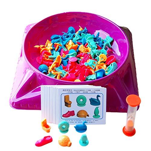 CandyTT Juguetes de Caza de Tesoros Entrenamiento Pensamiento lógico Educación temprana para Padres e Hijos Fiesta Familiar Juego de Mesa Juguetes para niños (Multicolor)