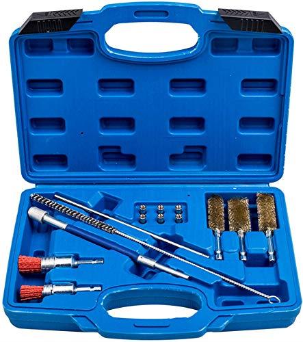 Fourward Kit de Nettoyage d'injecteur, siège d'injecteur de 14 pièces et kit de Nettoyage de Conduit Outil de buse d'injection avec Fil d'acier pour injecteur et brosses en Nylon
