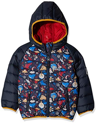 Jack Wolfskin Kinder ZENON PRINT JACKET KIDS Steppjacke, dark lacquer red allover, 116