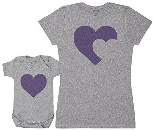 Zarlivia Clothing Heart Baby and Mother - Regalo para Madres y bebés en un Body para bebés y una...