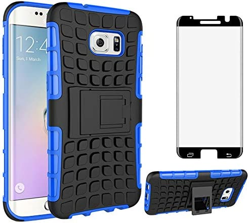 Phone Case for Samsung Galaxy S7 Edge with Tempered Glass Screen Protector Cover and Stand Kickstand product image