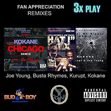 Fan Appreciation Remixes 3x Play