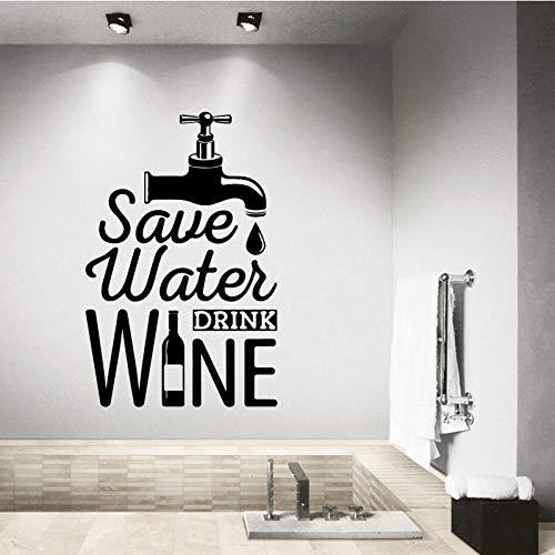 58 cm X 89 cm Etiqueta engomada de la pared del grifo de agua Pegatinas de pared extraíbles Papel tapiz para la sala de estar Dormitorio Stikers para decoración de la pared murales