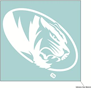 NCAA University of Missouri Tigers 6 x 6 inch White Decal