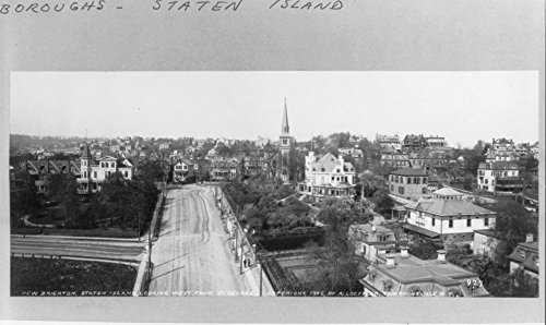 1905 Photo New Brighton, Staten Island, N.Y. [Bird's-eye view]: Looking west from St. George (The Best Furniture Shop New Brighton)