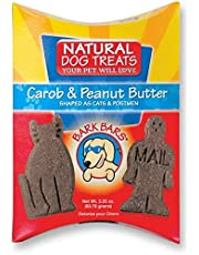 Bark Bars Pillow Pack - Carob & PB (63g) Dogs Treat, Biscuit treats