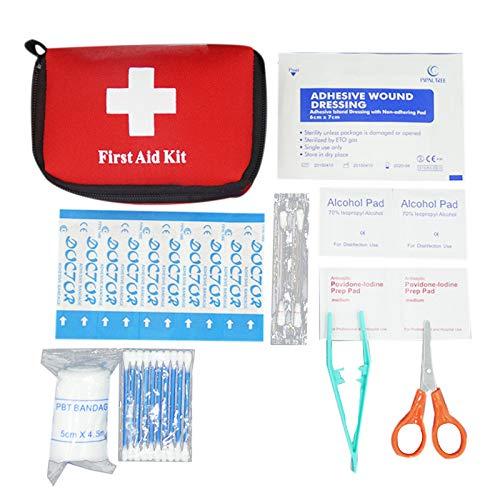 Heritan Kit de Primeros Auxilios PortáTil de Coche de 11 Piezas Kit de Supervivencia para Acampar de Emergencia Al Aire Libre Kit de Medicina para el Hogar
