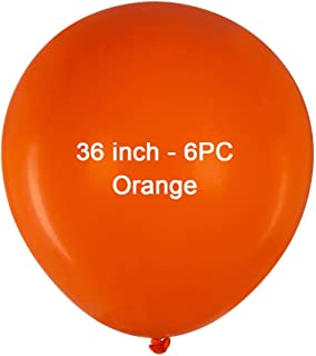36 inch Orange Latex Balloons Large Round Balloon Giant Latex Balloons Jumbo Big Balloons for Birthday Wedding Party Decor...
