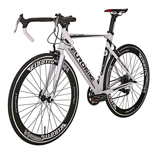 Eurobike Bicycle XC7000 700C Aluminum alloy frame Road Bikes 14 Speed Road Bicycle White