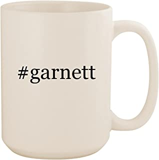 #garnett - White Hashtag 15oz Ceramic Coffee Mug Cup