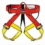 HGXC Arnés de Seguridad para Escalada de Medio Cuerpo, arnés de Cintura para montañismo, Escalada en Roca, Rappel, Correa para Escalada de árboles