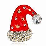 Lumemery Broche de Navidad Pin Mujeres Aleación Rhinestone Cristal Breastpin Decoraciones de Navidad Adornos Regalos para Madre Amante