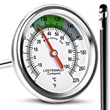 LOSTRONAUT GLOBAL LTD Compost Soil Thermometer - Long Stem Fast Response Stainless Steel 40 cm - Includes Protective Sheath and Composting Guide