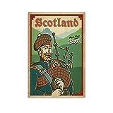 SDFGSD Vintage-Reise-Poster, Schottland-Poster, dekoratives