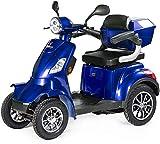 VELECO Scooter Électrique 4 Roues Senior/Pour Handicapés 1000W FASTER (Bleu)