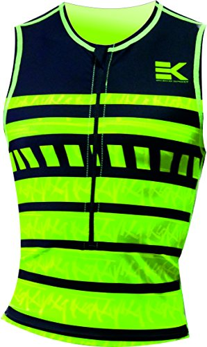 TRI TOP HOMBRE EKEKO , TRIATLON, COLOR NEGRO/VERDE/AMARILLO (L)