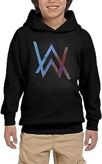 Youth Hooded Sweatshirt Alan Walker Logo Personalized Fashion Customization Black