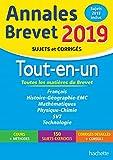 Annales Nouveau Brevet 3e Tout-en-un 2019