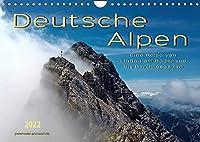 Deutsche Alpen, eine Reise von Lindau am Bodensee bis Berchtesgaden (Wandkalender 2022 DIN A4 quer): Unterwegs auf den schoensten Ferienstrassen Deutschlands. (Monatskalender, 14 Seiten )