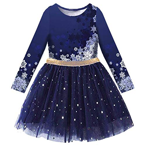 VIKITA Toddler Girl Dress Winter Long Sleeve Tutu Party Dresses for Girls 3-7 Years, Knee-Length (LH4583, 5T)