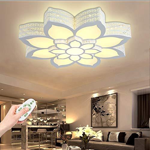 Deckenlampe Modern LED Deckenleuchte Blume-Shape Beleuchtung Design Acryl Aluminium Lampenschirm Deckenlampe Wohnzimmer Esszimmer Schlafzimmer Küche Mit Fernbedienung Weiß Deckenlicht,80cm(72W)