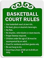 バスケットボールコートルールティンサインヴィンテージアイアンペインティングメタルプレートノベルティデコレーションクラブカフェバー。