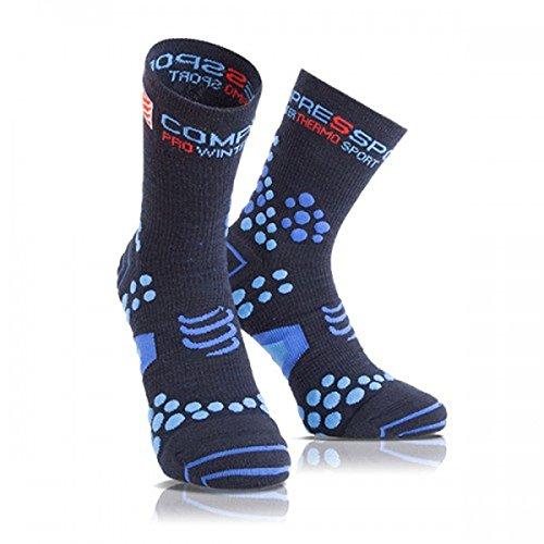 COMPRESSPORT - Pro Racing Socks V2.1 Winter Run, Color Blue, Talla EU 37-39