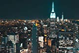 Poster Plakat Empire State Building in der Nacht M379