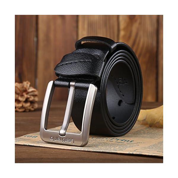 51w7NlYUAXL. SS600  - Leathario Hombres Cinturón de Cuero Correa Cinturones de Piel Diseñado para caballero