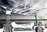 Fotomurales - Murales moderna de Diseno Costa arenosa - playa y costa- Decoración de Pared decorativos - 350x250cm