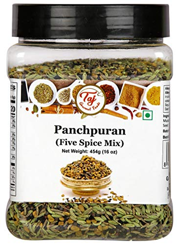 TAJ Premium Indian Panch Puran (5 Spice Blend), (16 Ounce)