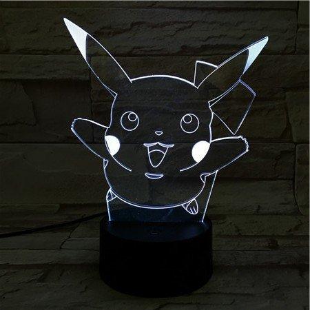 Pokémon LED-Lampe Pikachu Springen wechselt Farbe USB Nachtlicht