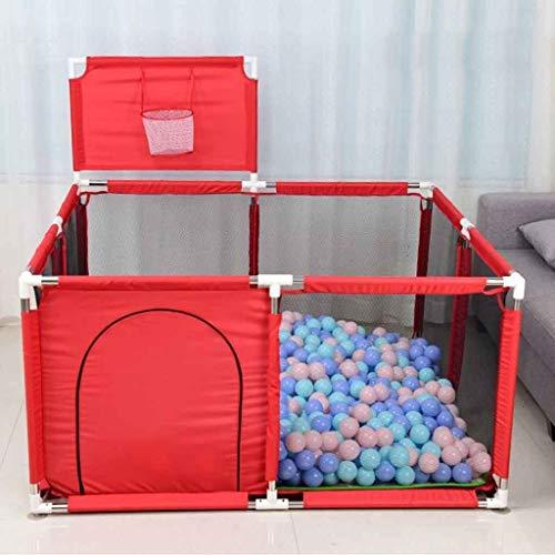 Baby Playpen Hek met Basketbal Hoop, Grote Rits Veiligheid Speelruimte Poort voor Baby Kruipen