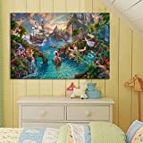 Mode Leinwand Malerei Thomas Kinkade Peter Pan Bilder