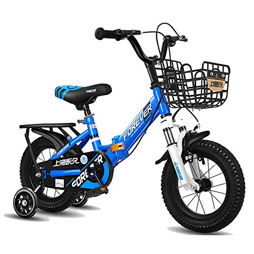 Axdwfd Kids Bike 12' & 14' Kids Outdoor Bicycle,for 2-5Years Old Boys and Girls Adjustable Children Mountain Bike Bicycle (Color : Blue, Size : 12in)