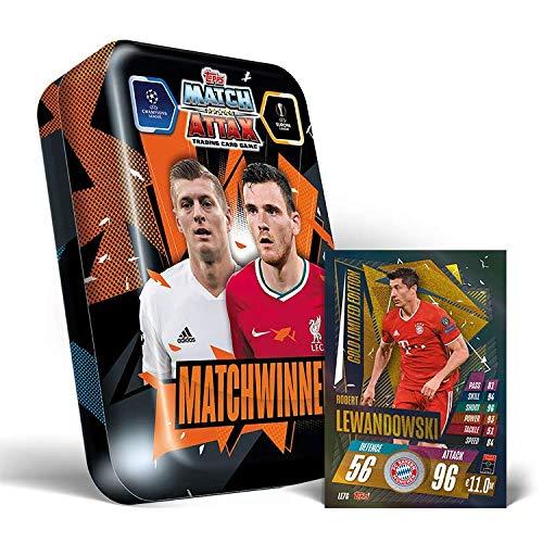 Topps Match Attax 20/21 - Ganadores del partido Mega Tin con edición limitada Lewandowski gold Edición Limitada!