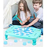 fine_fine Knock Ice Toy, Table Penguin Ice Pounding Games, Puzzle Ice Cubes Save Penguin Knock ice Block Wall Toys Desktop Paternity Interactive Game (A)