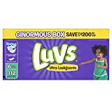 Luvs Ultra Leakguards Disposable Baby Diapers, Size 6, 112 Count (Packaging May Vary)