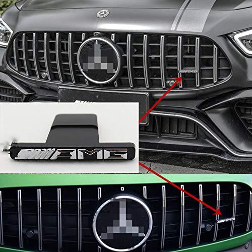 wangjianbin FüR Amg Mercedes W212 W202 W211 W210 W205 Cla CLS Glk Ml Gt Amg Logo KüHlergrill Aufkleber Emblem Abzeichen Aufkleber Front Grill Aufkleber
