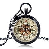 XXNYD Reloj De Bolsillo De Cara Abierta Simple Vintage Mecánico Automático Cuerda De Reloj Lisa Mujeres Hombres Relojes Regalo