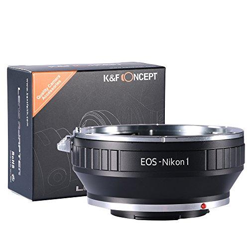 EOS-NIKON1 Adaptador - K&F Concept Anillo de Adaptador para Montar la Lente de Canon EOS a...