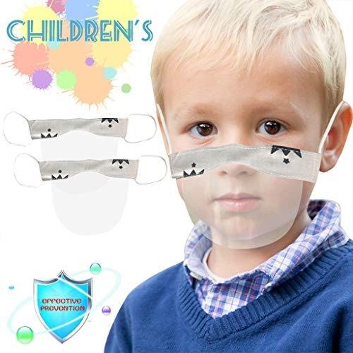 eiuEQIU Visier Gesichtsschutz aus Kunststoff - Jungen Mädchen-Universales Gesichtsvisier für Kinder Safety Gesichtsschutzschild Visier zum Schutz vor Flüssigkeiten (2pc)