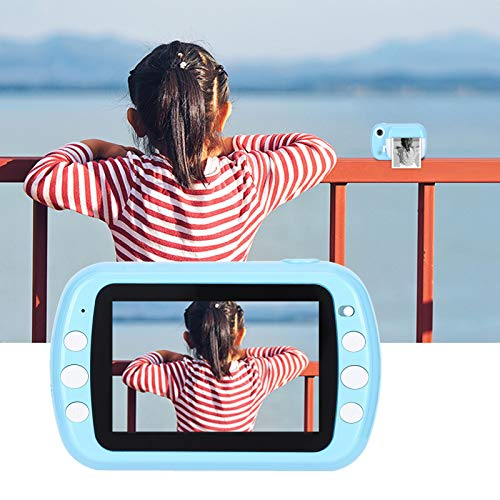 Camidy Cámara Digital Cámara de Regalo de Cumpleaños de Impresión Térmica de Doble Lente 1080P para Niños Cámara para Grabación de Video