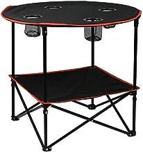 DX Folding Camping Table, Outdoor draagbare huishoudelijke dubbele laag ontwerp met vier netvakken multifunctionele vouwen...